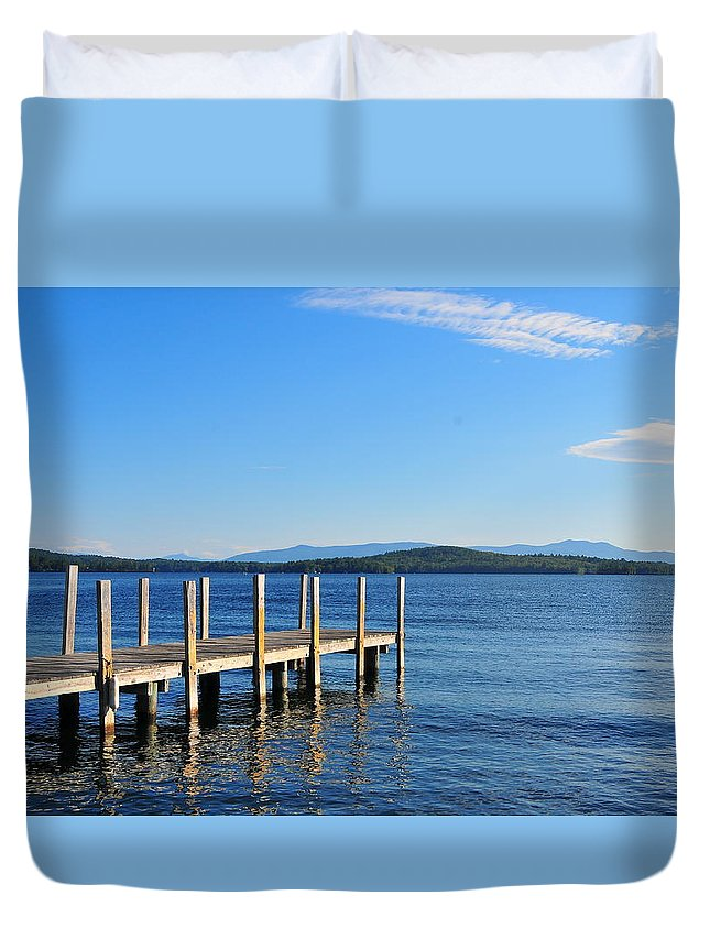 Dock Duvet Cover featuring the photograph Just Listen by Catherine Reusch Daley