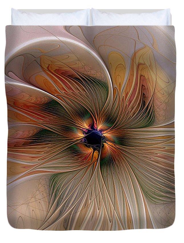 Digital Art Duvet Cover featuring the digital art Just Peachy by Amanda Moore