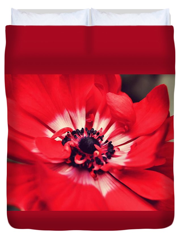 Red Duvet Cover featuring the photograph Just Red by JAMART Photography