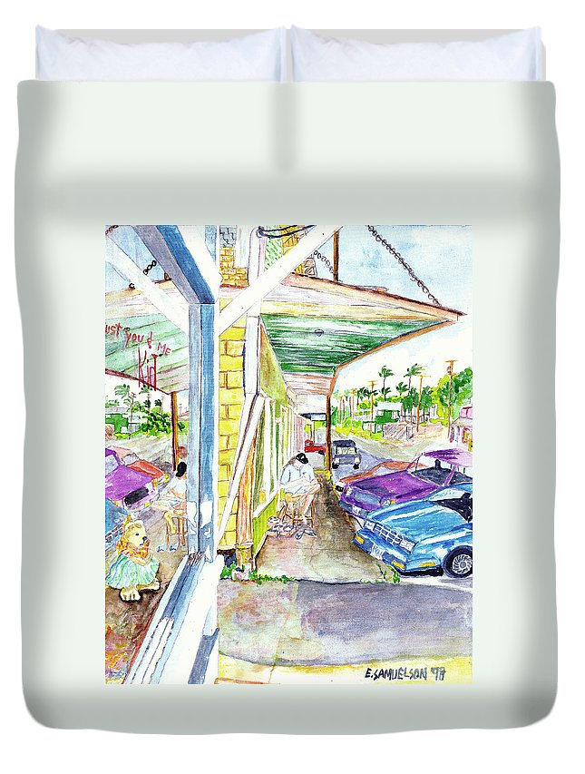 Paia Duvet Cover featuring the painting Just You And Me by Eric Samuelson