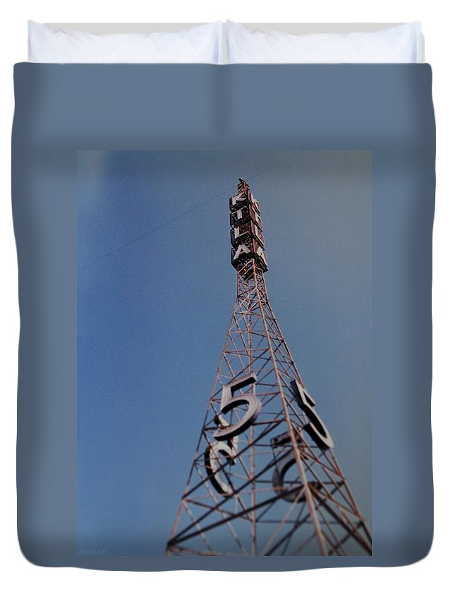 Hollywood Duvet Cover featuring the photograph K T L A Channel 5 by Rob Hans