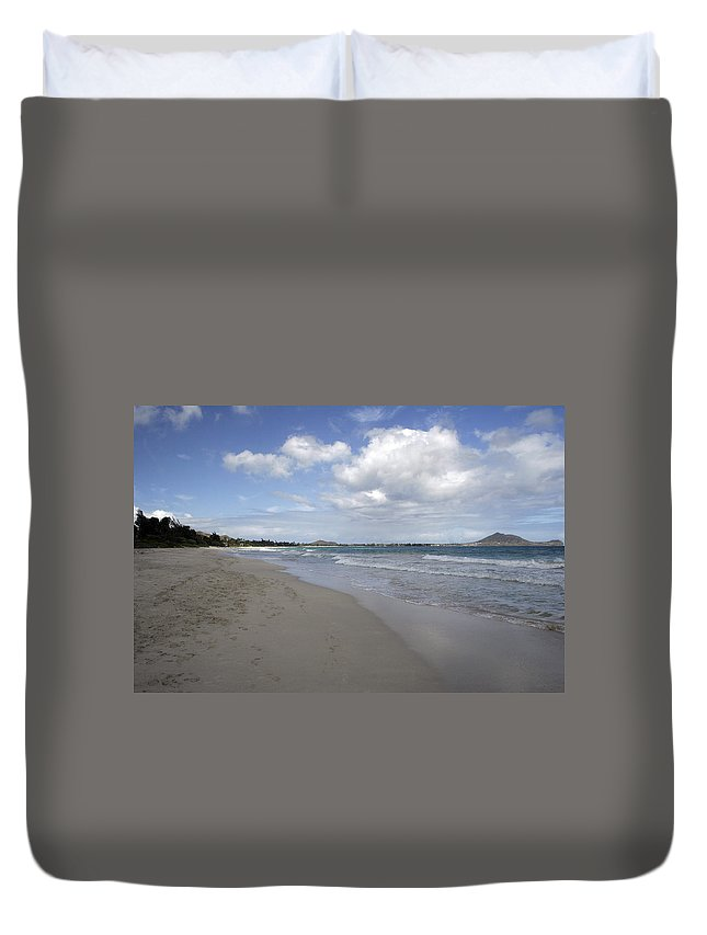 Duvet Cover featuring the photograph Kailua Beach, Oahu by Kenneth Campbell