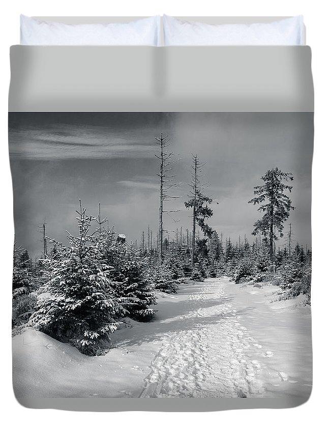 Kaiserweg Duvet Cover featuring the photograph Kaiserweg, Harz by Andreas Levi