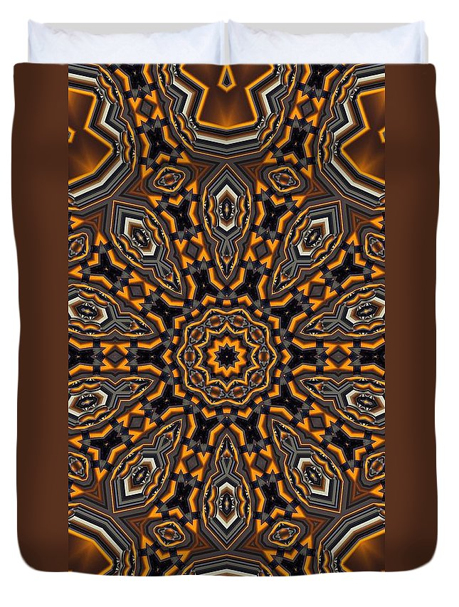 Kaleidoscope Duvet Cover featuring the digital art Kaleidoscope 25 by Ron Bissett