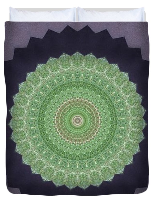 Kaleidoscope Duvet Cover featuring the photograph Kaleidoscope 4 by Jean Evans