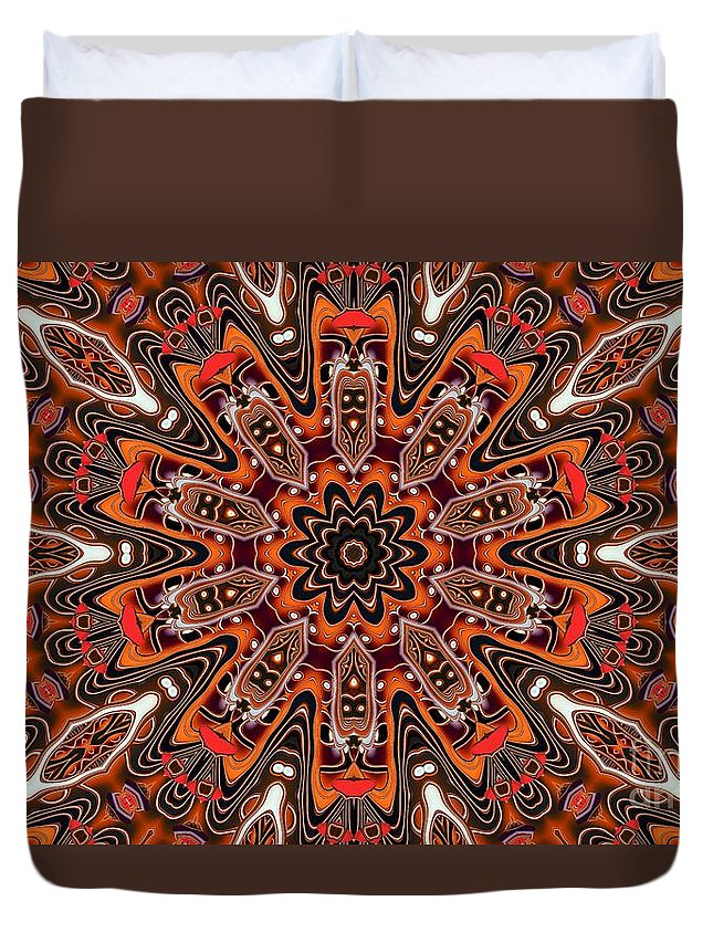 Kaleidoscope Duvet Cover featuring the photograph Kaleidoscope 85 by Ron Bissett