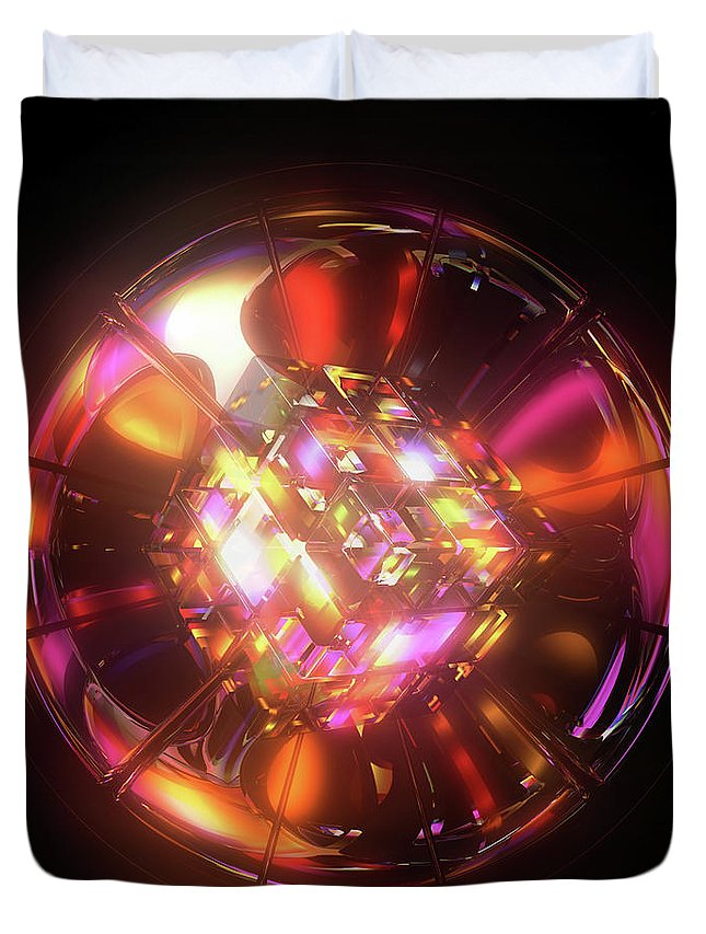 3d Duvet Cover featuring the digital art Kaleidoscope by Jules Gompertz