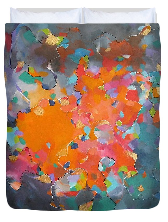 Whirlwind Duvet Cover featuring the painting Kaleidoscope Of Colour by Jeni Bump