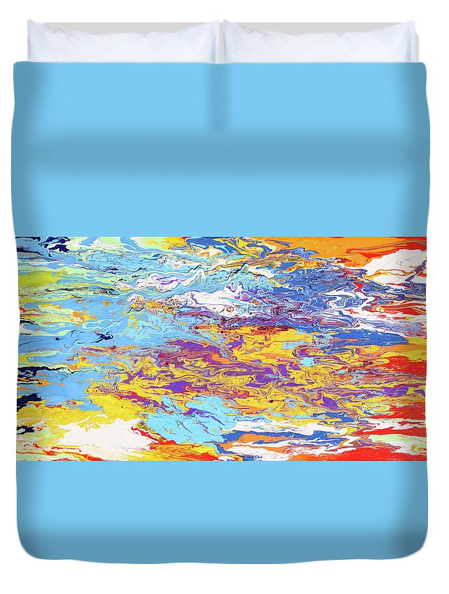 Fusionart Duvet Cover featuring the painting Kaleidoscope by Ralph White