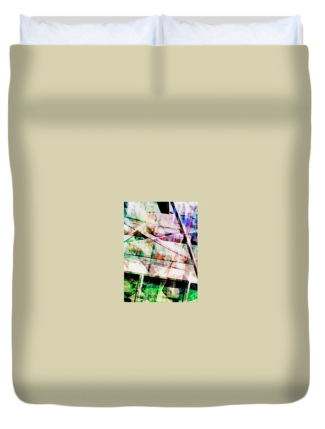 Abstract Duvet Cover featuring the photograph Kaleidoscope Vision by Tom Gowanlock