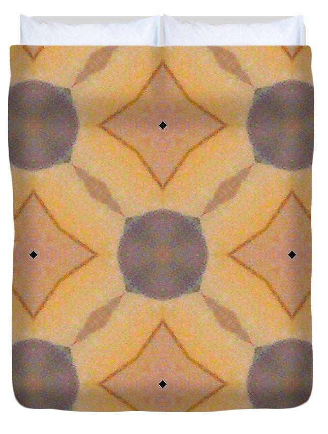 Digital Kaleidoscopes Duvet Cover featuring the photograph Kaleidoscopes- 01 by David Lange