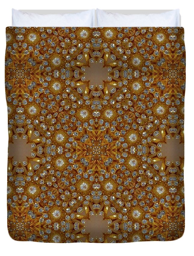 Digital Kaleidoscopes Duvet Cover featuring the photograph Kaleidoscopes0 10 by David Lange