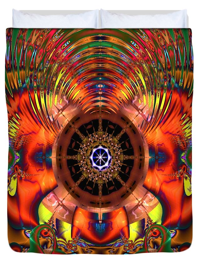 Psychedelic Duvet Cover featuring the digital art Kaleidotrip by Gina Lee Manley