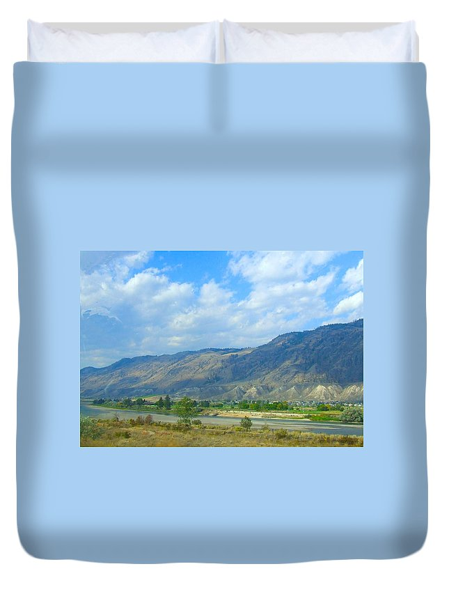Landscape Duvet Cover featuring the photograph Kamloops by Tiffany Vest