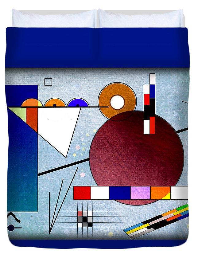 Bonvilston Duvet Cover featuring the digital art Kandinsky II by Peter Leech
