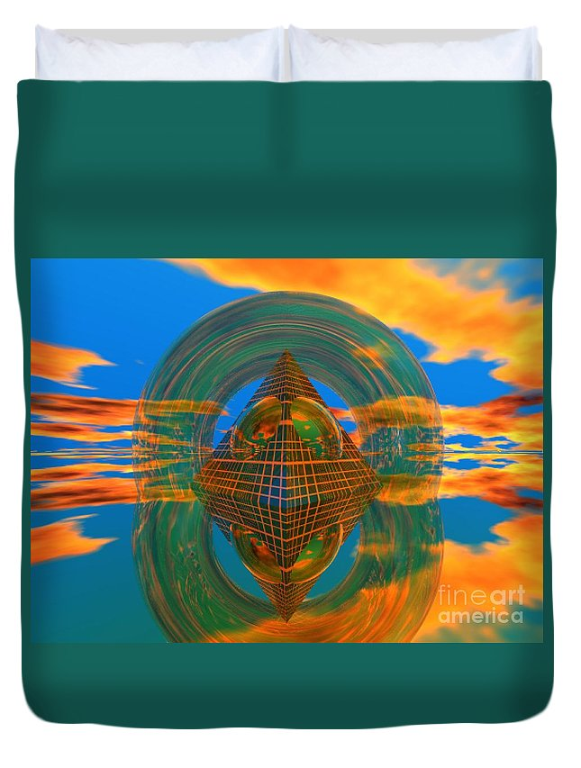 Karma Duvet Cover featuring the digital art Karma by Oscar Basurto Carbonell