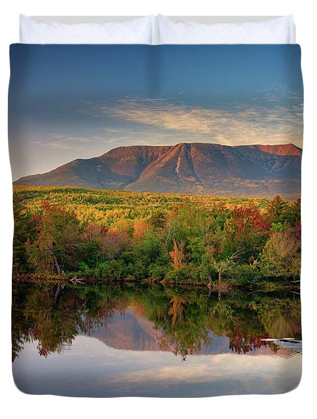Mount Katahdin Duvet Cover featuring the photograph Katahdin At Sunset by Rick Berk