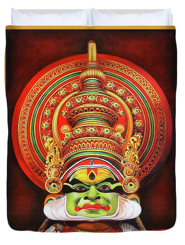 Kathakali The Kerala Dance Art Duvet Cover For Sale By Asp Arts