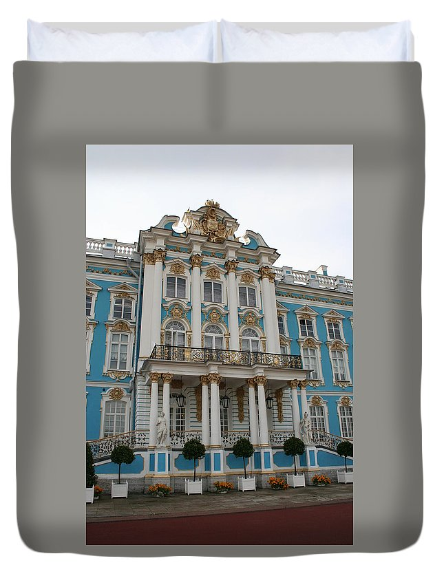 Palace Duvet Cover featuring the photograph Katharinen Palace I - Russia by Christiane Schulze Art And Photography