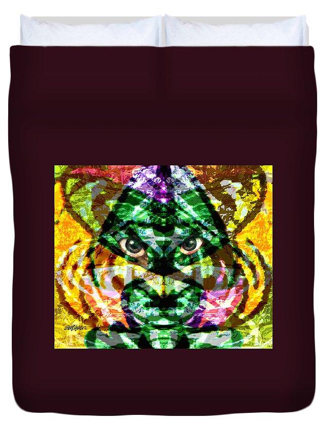 Abstract Duvet Cover featuring the digital art Katmandu by Seth Weaver