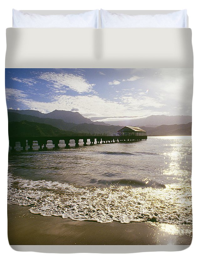 Afternoon Duvet Cover featuring the photograph Kauai, Hanalei Bay by Dana Edmunds - Printscapes