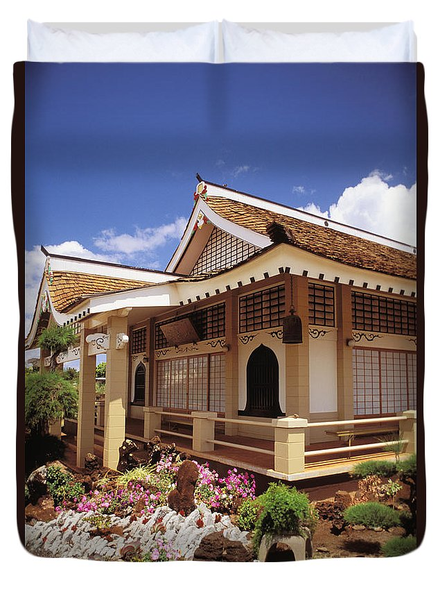Architecture Duvet Cover featuring the photograph Kauai, Hanapepe by Peter French - Printscapes