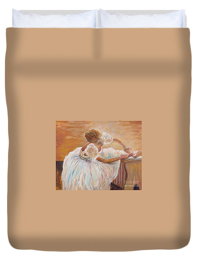 Dancer Duvet Cover featuring the painting Kaylea by Nadine Rippelmeyer