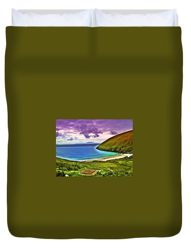 Keem Bay Duvet Cover featuring the photograph Keem Bay - Ireland by Bill Cannon