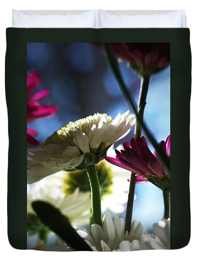 Flowers Duvet Cover featuring the photograph Keeping In The Sunlight... by Arthur Miller