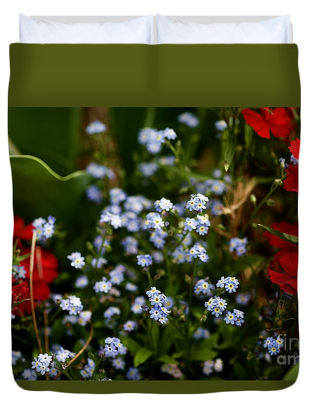 Flowers Duvet Cover featuring the photograph Keeping by Lara Morrison