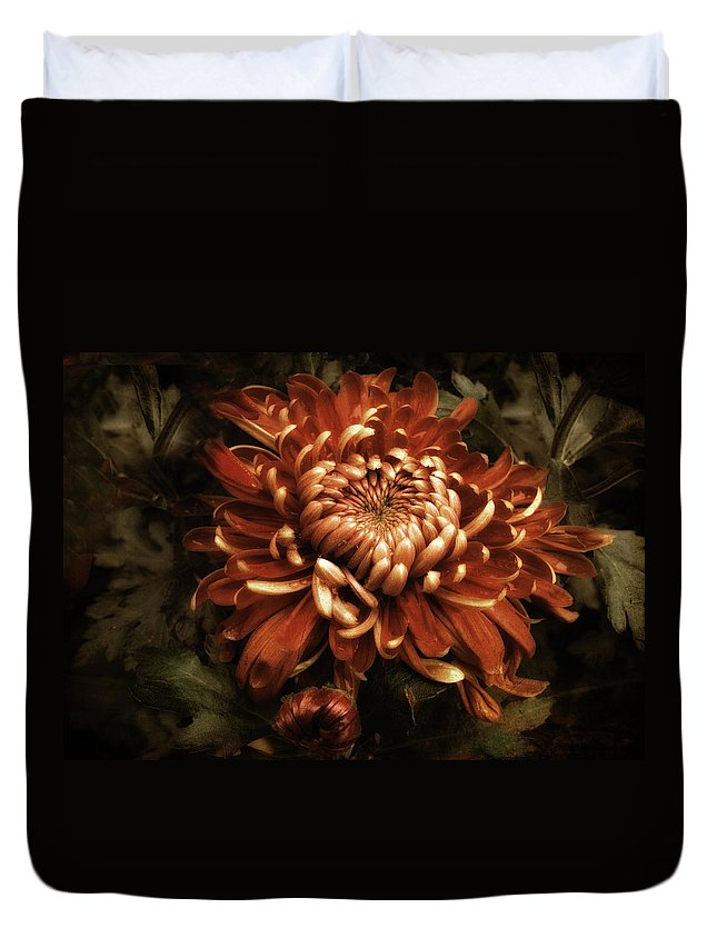 Flowers Duvet Cover featuring the photograph Keeping Mum by Jessica Jenney