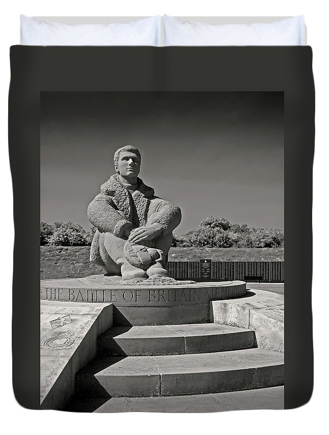 Battle Of Britain Duvet Cover featuring the photograph Keeping Watch by Bel Menpes