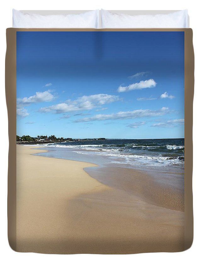 Kekaha Duvet Cover featuring the photograph Kekaha Beach by Lauri Novak