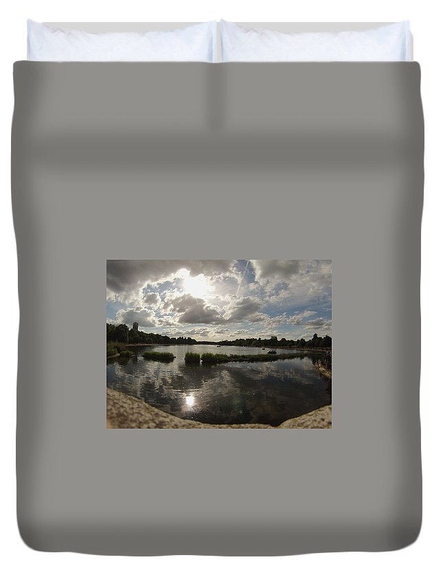 Kensington Gardens Duvet Cover featuring the photograph Kensington Clouds by Eric Reith
