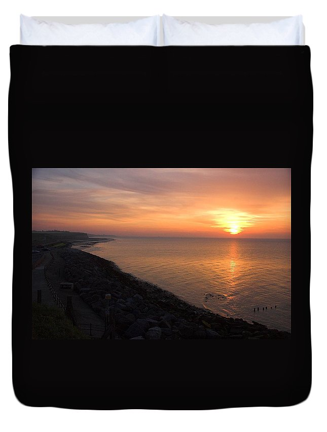 Sunset Duvet Cover featuring the photograph Kentish Sunset by Chris Pickett