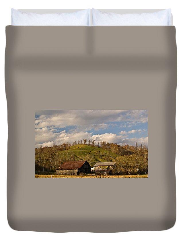 Kentucky Duvet Cover featuring the photograph Kentucky Mountain Farmland by Douglas Barnett