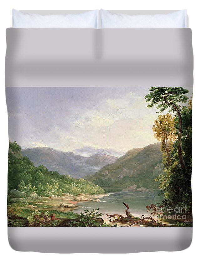Kentucky River Duvet Cover featuring the painting Kentucky River by Thomas Worthington Whittredge