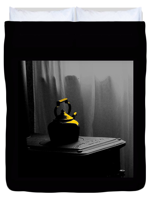 Kettle Duvet Cover featuring the photograph Kettle In Isolation by Ian MacDonald