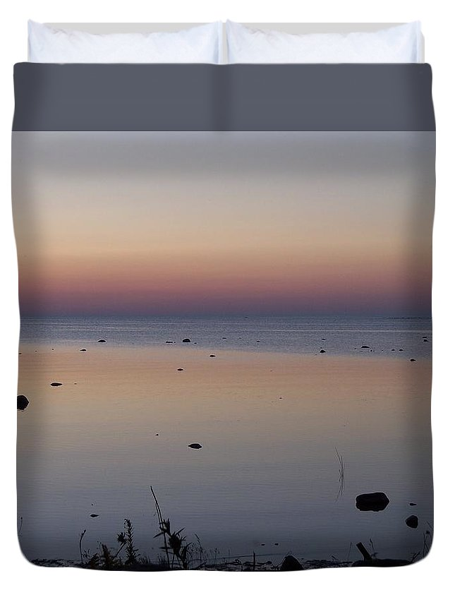 Canada Duvet Cover featuring the photograph Kettle Point Sunset by Michelle Miron-Rebbe