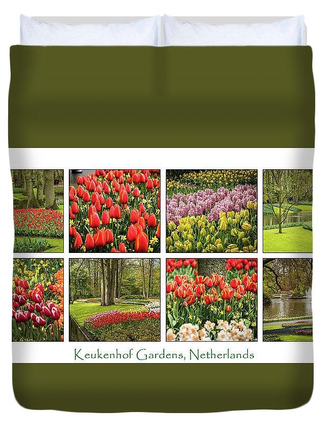 Keukenhof Duvet Cover featuring the photograph Keukenhof Garden Collage by Jon Berghoff