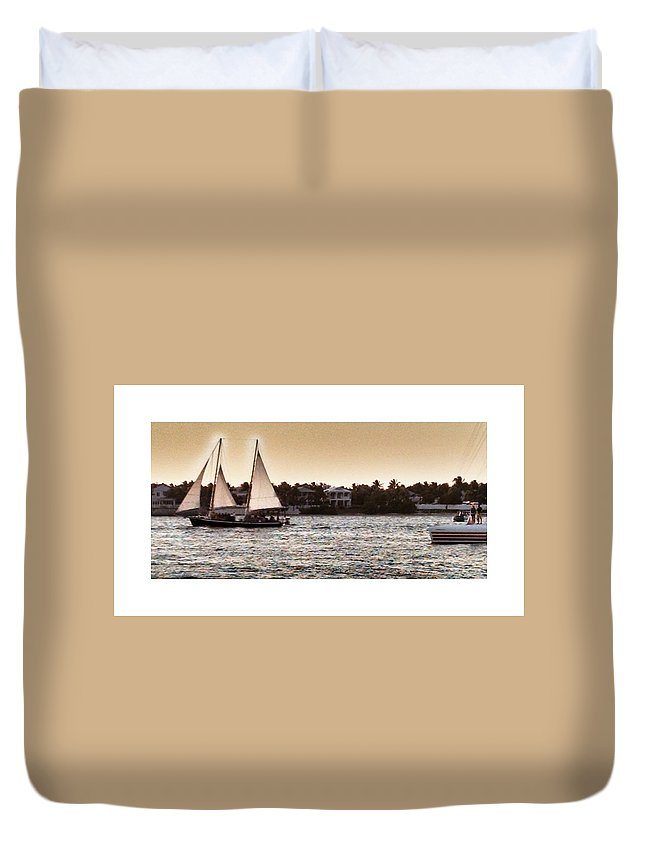 Sunset In Key West Duvet Cover featuring the photograph Key West by Dennis Cantrell