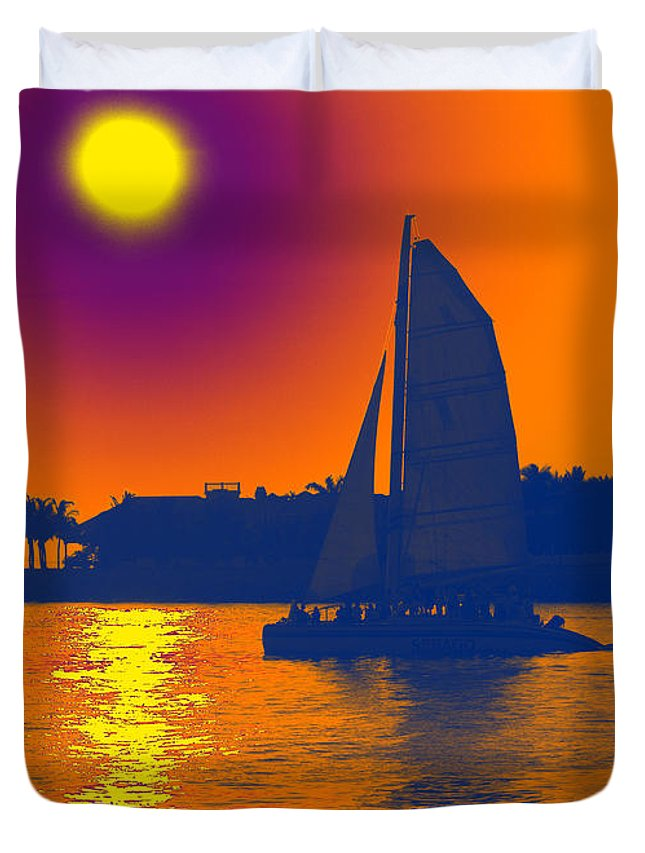 Key West Duvet Cover featuring the photograph Key West Passion by Steven Sparks