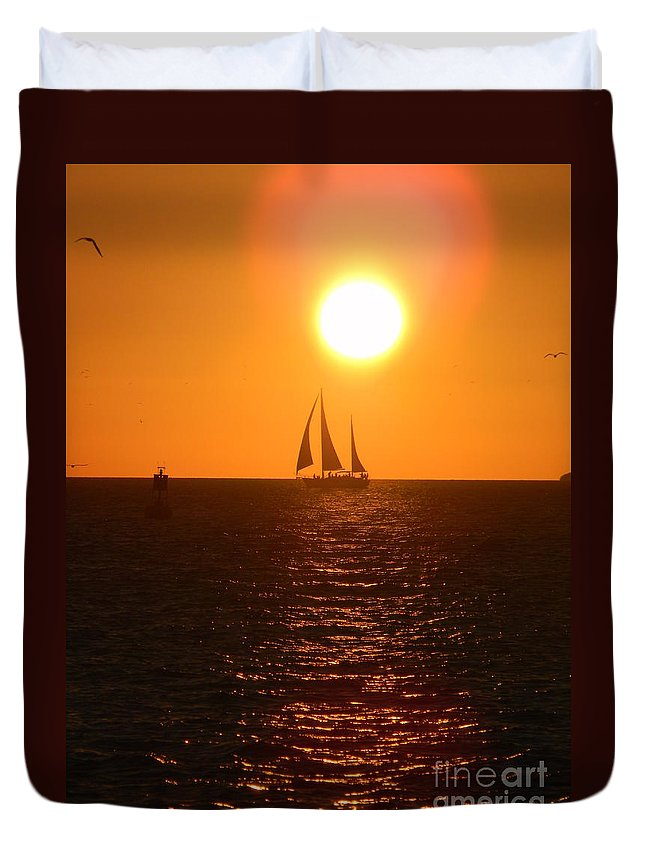 Key West Duvet Cover featuring the photograph Key West Sunset by Neil Zimmerman