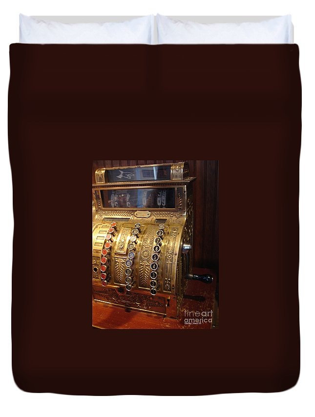 Cash Register Duvet Cover featuring the photograph Keys Of Time 2 by Shelley Jones