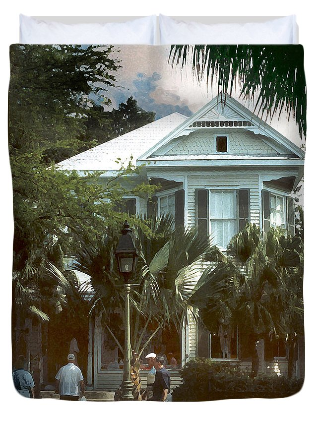 Historic Duvet Cover featuring the photograph Keywest by Steve Karol
