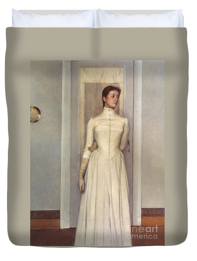 1887 Duvet Cover featuring the photograph Khnopff: Sister, 1887 by Granger