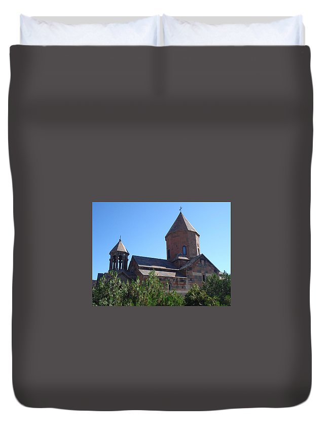 Monastery Duvet Cover featuring the photograph Khor Virap Monastery by Aleks Findikian