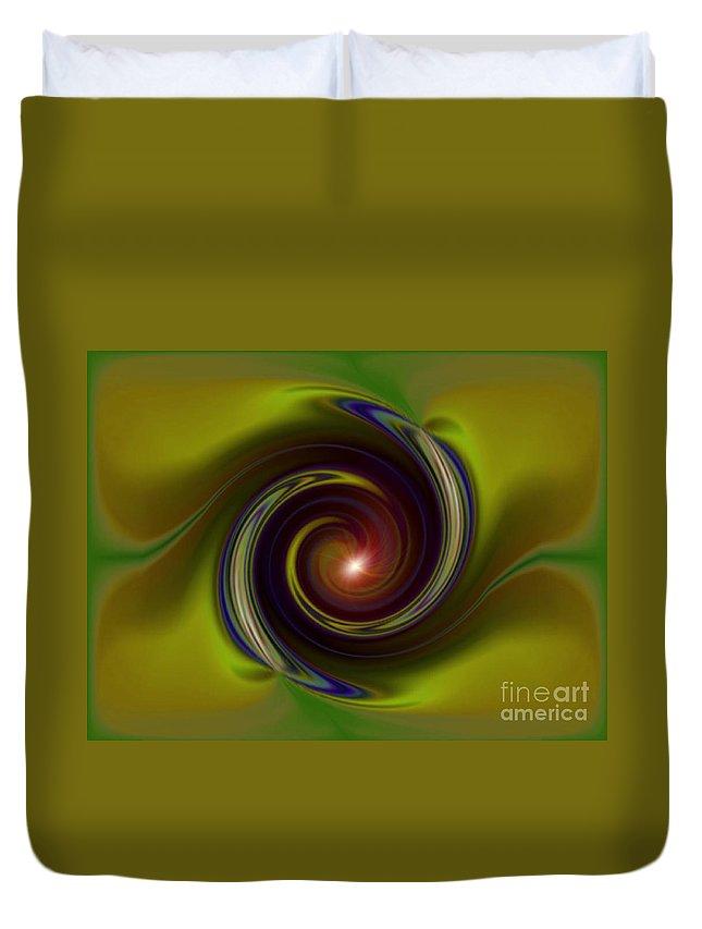 Ki Duvet Cover featuring the digital art Ki Series. 19 W by Oscar Basurto Carbonell