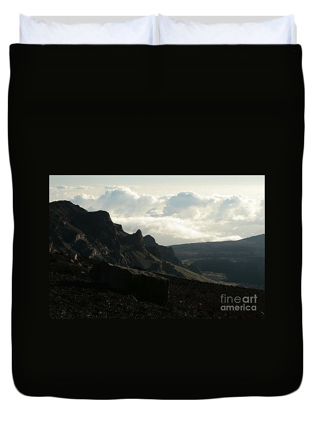 Aloha Duvet Cover featuring the photograph Kilakila O Haleakala Ala Hea Ka La The Sacred House Of The Sun by Sharon Mau