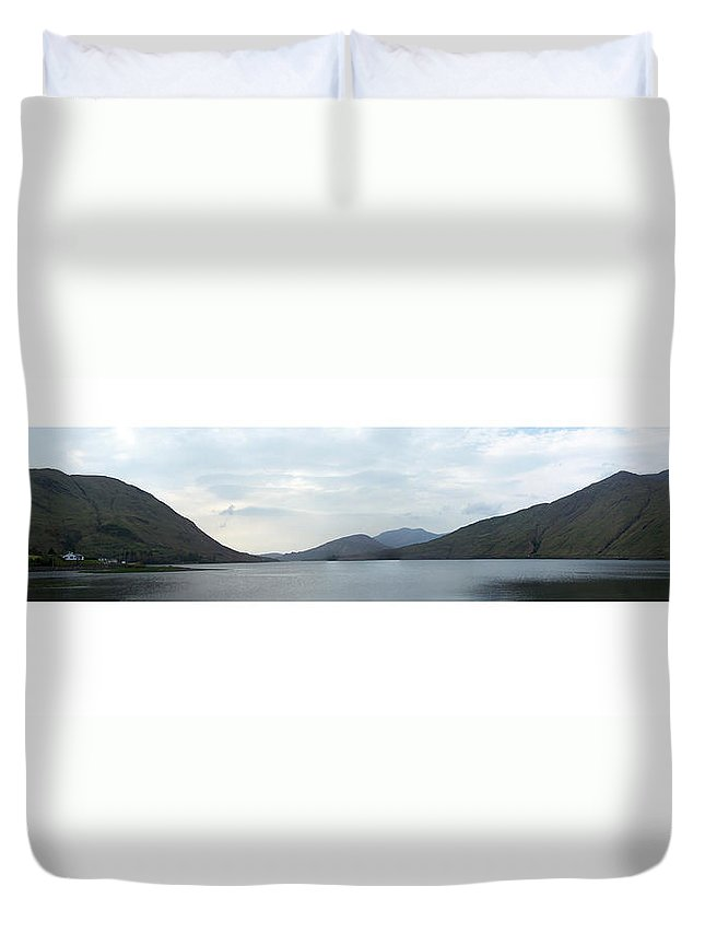 Landscape Duvet Cover featuring the photograph Killary Harbour Leenane Ireland by Teresa Mucha